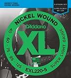 D'Addario EXL220-5 Saitensatz fuer E-Bass 040' - 125'