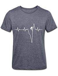 Klettern Herzschlag Kletterer EKG Männer Polycotton T-Shirt von Spreadshirt®