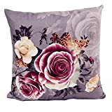 Winkey New Design Printing Dyeing Peony Sofa Bed Home Decor Pillow Case Cushion Cover (purple)