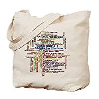 CafePress - Proud Geography Teacher - Natural Canvas Tote Bag, Cloth Shopping Bag