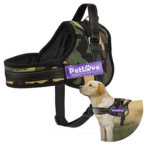 Hundegeschirr, PetLove weiche Leine gepolsterte No-Pull Hundegeschirr in allen Größen - Kleine, Camouflage