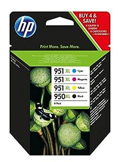 HP 950XL/951XL pack de 4 cartouches d'encre noire/cyan/magenta/jaune grande capacité authentiques (C2P43AE) (B00D145OYY) | Amazon Products