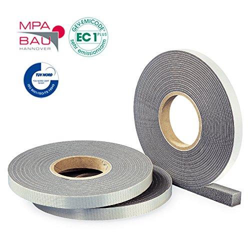 Hannoband HBD Kompriband 20/3-5 Farbe grau 9m Rolle - mit MPA Prüfung