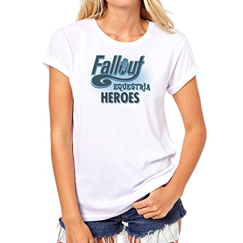 Fall Out 4 Computer Game Art Shooting Equasteria Heroes Damen T-Shirt Weiß