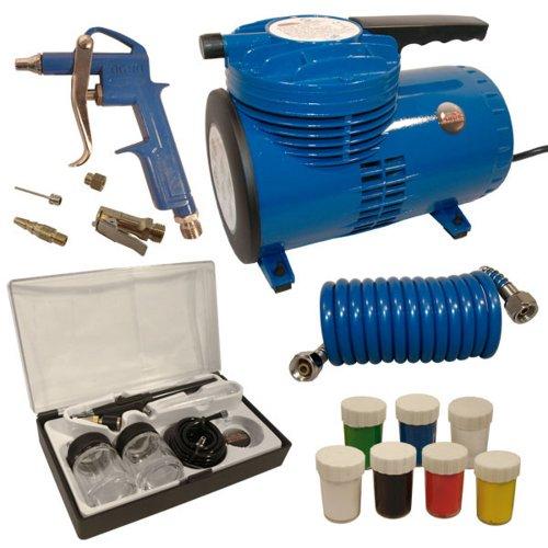 Mauk Airbrush Komplett-Set Kompressor Airbrushpistole