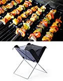 #4: House of Quirk Portable & Foldable Charcoal Barbecue Grill - Both For Outdoor & Indoor (Sqaure)