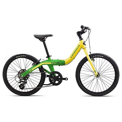 Orbea Grow 2 Kinder Fahrrad 20 Zoll 7 Gang Rad Aluminium mitwachsend einstellbar, G00420K, Farbe Pistazie Grün