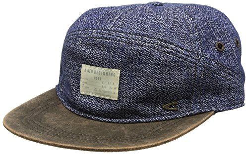 camel active Herren Baseball Cap 5C26, Blau (Denim 41), Large