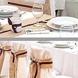 ECD Germany Jutenband - Tischläufer (BX L) 30 cm x 10m Natur - Tischband aus Jute - Hochzeitsdeko Taufe Kommunion Hochzeit Deko - Dekoband Landhausstil Vintage - 9