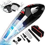 Aspirador de Mano RIKIN 8500PA 120W Aspiradora de Coche Sin Cable Carga Rápida Potente Filtro de Acero Inoxida