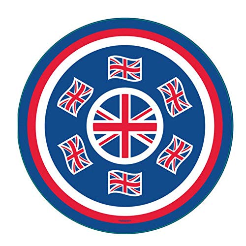 Great Britain Union Jack Royal Wedding Party – Geschirr Luftballons & Dekorationen Gb Round Melamine Platter (33c.