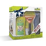 Geschenkeset bestehend aus 1 Stck.Furminator Hund M langhaar /1 Stck. Waterless Spray / 1 Stck. Handtuch