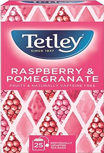 Tetley Raspberry and Pomegranate Tea Bags Box | Pack of 25