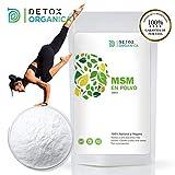 Detox Organica MSM Polvo 99.9% Puro En Bolsa 1 kg | Sin Aditivos - Azufre Orgánico En Dosis Alta – 100% Natural Vegetal | Antiinflamatorio – Dolor Muscular | Producto Vegano Hecho En Alemania