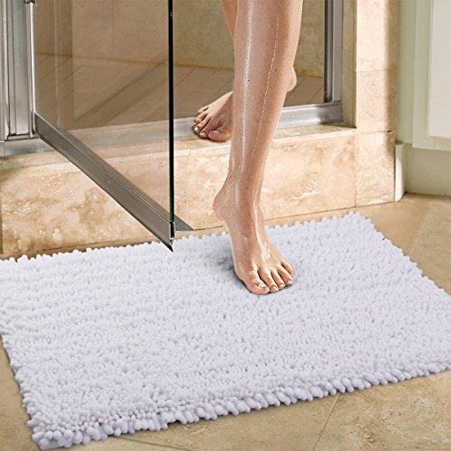 Norcho Alfombra Antideslizante Absorbente Multifuncional Microfibra Mat Moderna para el Cuarto de Baño,Perro,76 x 50 cm,Blanca