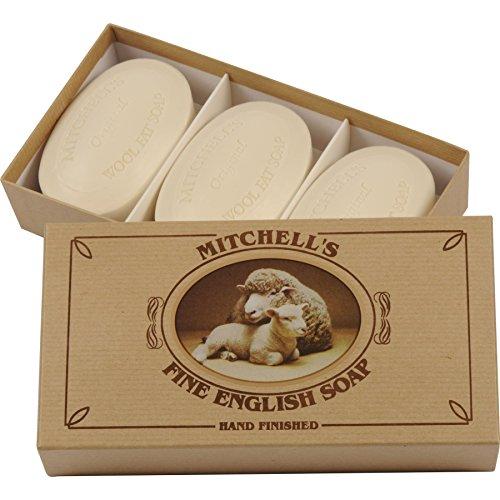 Mitchell's Wool Fat Oval Soap 3x150g Gift Box