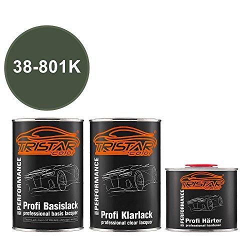 Preisvergleich Produktbild TRISTARcolor Autolack Set Dose spritzfertig für Buick / Cadillac / Chevrolet / Corvette 38-801K Vermeer Green Perl Metallic Basislack + 2K Klarlack 2, 5L