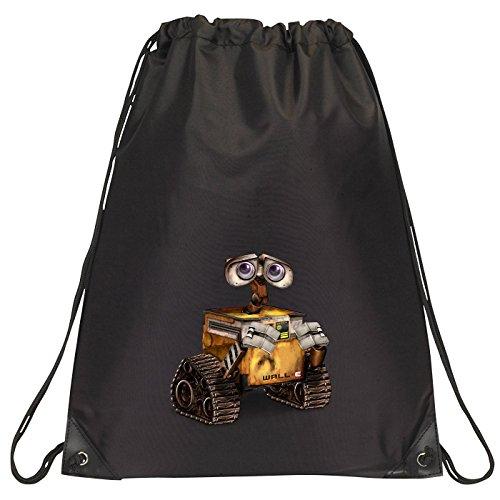 Image of Black Pixar Wall-E drawstring school/PE/Gym/Kit bag