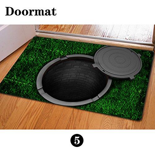 bigcardesigns Custom Schachtdeckel Bedruckte Fußmatte Badezimmer Küche Bodenmatten Manhole cover 3 - Läufer 72 24 Teppich