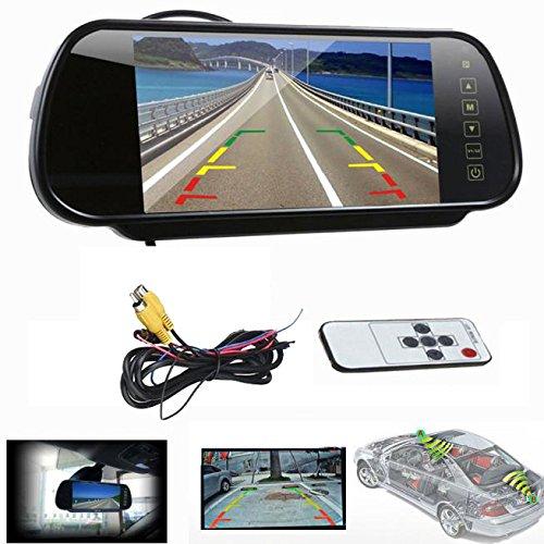 ROGUCI 7 Zoll Rückspiegel Monitor Außenspiegel Videogeräte für Kopfstützen Autozubehör Monitor-Zubehör Innenspiegel Rückspiegel,Spiegel Außenspiegelsets