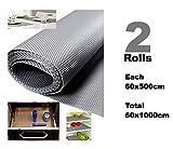 #8: Premium Multipurpose Textured Super Strong Anti-Slip Anti-Skid Eva Mat Liner - Size 60x1000Cm (2 Rolls of 5 Meters) - Grey