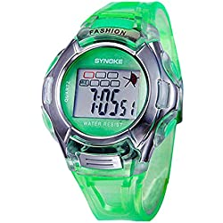 Silvercell Child Sports Multifunction Waterproof Electronic Wrist Watch Green