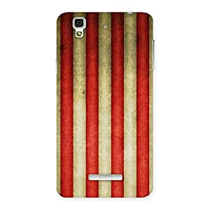 Neo World Red Yellow Stripes Back Case Cover for YU Yureka Plus