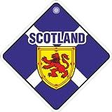 Schottland Andreaskreuz St Andrews Flagge Fenster Schild mit Saugnapf