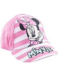 Casquette enfant fille Minnie Disney Rayé rose/blanc de 3 à 9ans