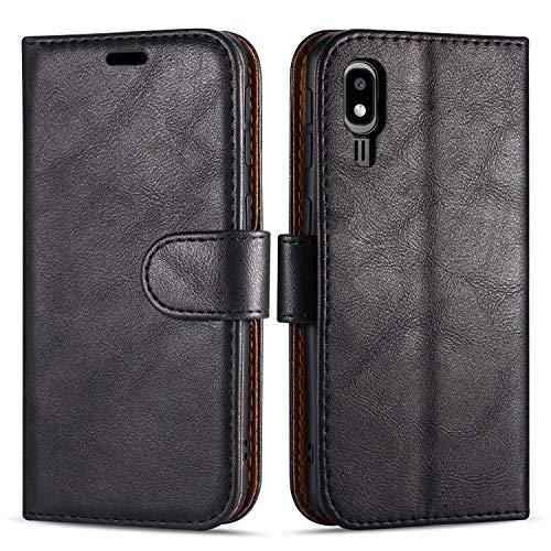 Case Collection Funda de Cuero para Samsung Galaxy A2 Core (5,0') Estilo Cartera...