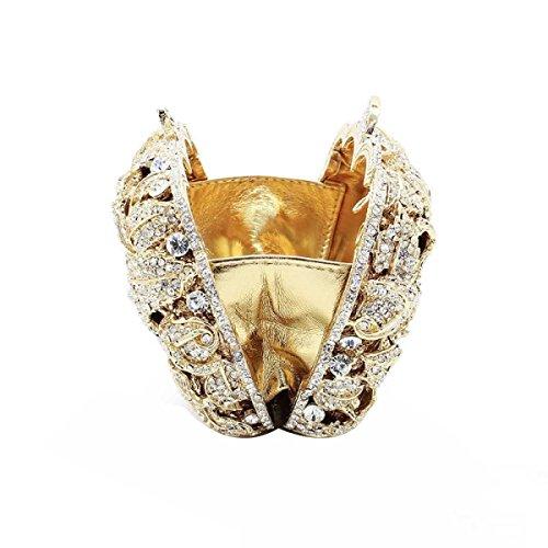Maschio Di Lusso Sacchetto Di Sera La Frizione Cristalli Diamanti Borsa OneColor