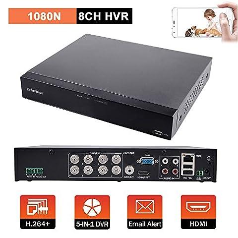 Evtevision 8CH Hybrid 5-in-1 1080P Lite Realtime CCTV Security DVR