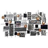 Composición abstracta Cuadro en metal escultura para la pared realiazada con tecnicas artesanales