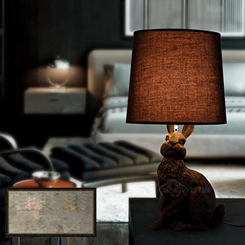 Lámpara de Mesa Amos Holandés diseño Moderno Minimalista Dormitorio lámpara de cabecera Retro Restaurante Industria Estudio Creativo (Color : Negro)
