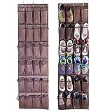 viemode unidad de almacenamiento de bolsillo sobre la puerta zapatero con colgante, diseño de: este 24grande multiuso ayuda a Ordene su armario y nea