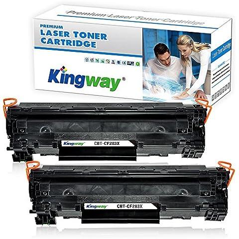 kingway 2PCS brevetto cartuccia toner laser HP Canon CF283X 83X