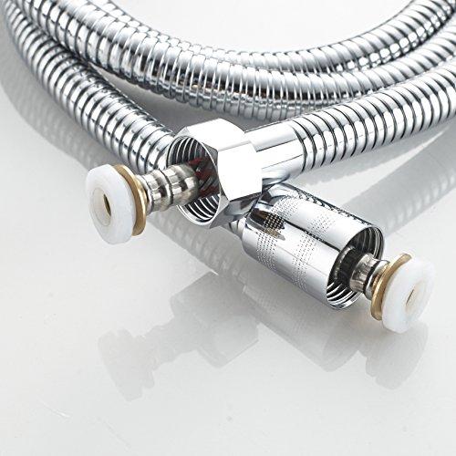 confronta il prezzo Tubo doccia 1.5 m, tubo per doccia in acciaio INOX & anti-esplosione nuova tecnologia, con connettore in ottone massiccio 149,9 cm bagno doccia doccetta di ricambio a tenuta cromato miglior prezzo