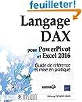 Langage DAX pour PowerPivot et Excel...
