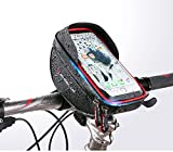 Bike Handlebar Bag, XPhonew Bicycle Top Tube Pouch, Cycling Frame Bag Phone Mount Holder for iPhone X 8 Plus 7 7 Plus 6 6S Plus Samsung Galaxy S8 S7 Edge S6 Edge Plus S6 S5 S4 Note 3 4 5 LG HTC Huawei Xiaomi OnePlus Sony Smartphones up to 6