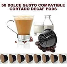 50 DOLCE GUSTO COMPATIBLE CORTADO DECAF DECAFFEINATED COFFEE PODS CAPSULES