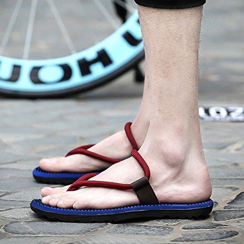Herrenhausschuhe, Fuß Flip-Flops, lässige Sommer Sandalen, Sommer-Strand Sandalen, Herren-Sandalen, Vierzig, Borland
