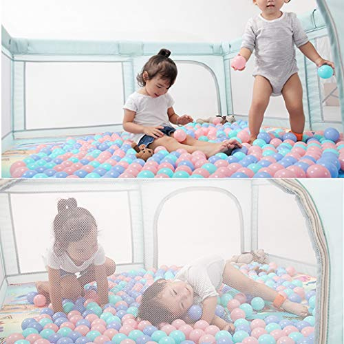Playpens Game Fence Game Children's Toy Pool Indoor Game Bed Indoor Playground Kid's Play Area Safety Fence (Color : Green, Size : 160x200x70cm)  Meng Wei shop