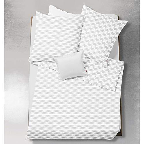 Unbekannt Fleuresse Damast-Bettwäsche Saphir, Bettdeckenbezug: ca. 140 x 200cm, Kissenbezug: ca. 70cm x 90cm, 100% Reine Baumwolle