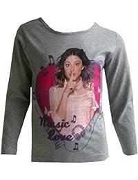 Violetta - Tee shirt manches longues Violetta Music love gris - 6 ans,8 ans,10 ans,12 ans