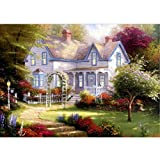 Hotsellhome 5D DIY Crystal Diamond Embroidery Painting Kit Villa Picture Cross Stitch Arts Craft Supply for Home Wall Decoration, Full Drill, Perfect for Beginners with Paintings Tools