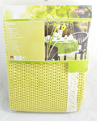 Rustikal Gartentischdecke Tischdecke, gelb, 130x180x0,7 cm, 20623