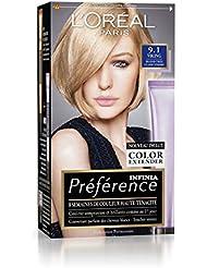 Préférence L'Oréal Paris Coloration Permanente 9.1 Blond Très Clair Cendré