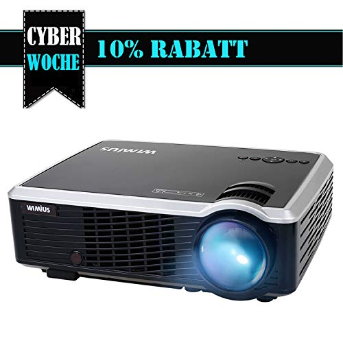 Beamer HD Projektor LED Beamer 3000 Lumen Unterstützt 1080P Videoprojektor für Heimkino Multimedia