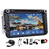 Automobile DVD GPS Stereo 8 pollici per VW Beetle CC EOS GTI Jetta Passat Tiguan con navigazione, Bluetooth, radio, ingresso AUX, USB, iPhone / iPod di controllo, controllo del volante, US Map, ingresso Rearview Camera