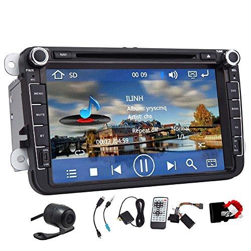 Auto-DVD GPS Stereo 8 Zoll f¨¹r VW K?fer CC EOS GTI Jetta Passat Tiguan mit Navigation, Bluetooth, Radio, AUX-Eingang, USB, iPhone / iPod-Steuerung, Lenkrad-Steuerung, US-Karte, R¨¹ckfahrkamera-Eingang -